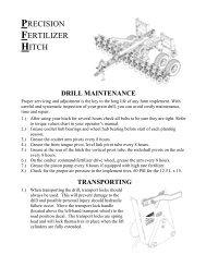 precision fertilizer hitch drill maintenance - Great Plains
