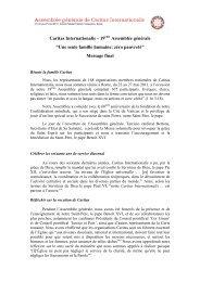 Message final - Caritas Internationalis