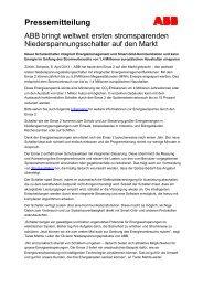 ABB bringt weltweit ersten stromsparenden ... - ABB Group