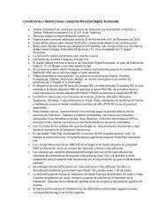 Condiciones y Restricciones campaña Navidad Digital Avanzada.