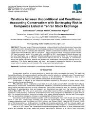 Relations between Unconditional and Conditional ... - irjabs.com