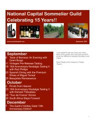 National Capital Sommelier Guild Celebrating 15 Years!!