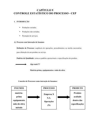 Cap 9 - Controle Estatistico do Processo - Sistemas