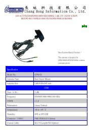 Specification Model No. GPM-02 Antenna Type Roof Screw Mount ...