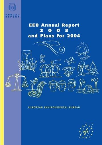annual report EEB 005/04