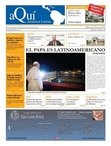 EL PAPA ES LATINOAMERICANO - Aqui-online.com