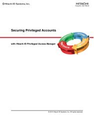 Securing Privileged Accounts - Hitachi ID Systems, Inc.