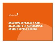 ensuring efficiency and reliability in autonomous energy supply system