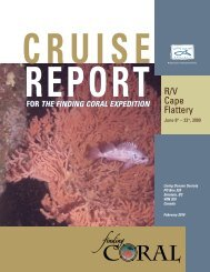 Cruise Report for the Finding Coral Expedition - Marine ...