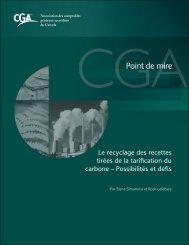Le recyclage des recettes tirées de la tarification du carbone