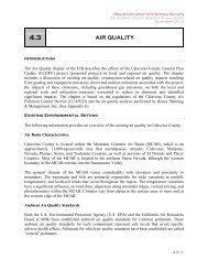 AIR QUALITY - Calaveras County