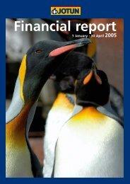Financial report - Jotun
