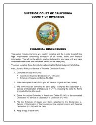 Financial Disclosure Packet - Superior Court, Riverside - State of ...
