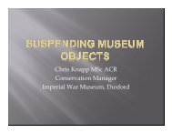 Suspending museum objects