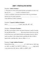 Postulates - MathChamber