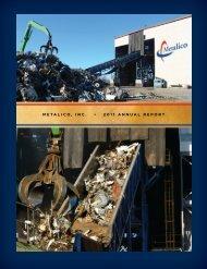 METALICO, INC. • 2011 ANNUAL REPORT - Thecorporatelibrary.net