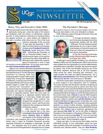 Fall 2005 - UCSF Alumni