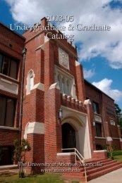 2003-2005 Catalog - University of Arkansas at Monticello