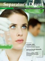 Separator's Digest ACHEMA 2009 - GEA Westfalia Separator Group