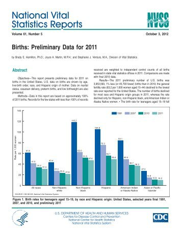 National Vital Statistics Reports, Vol. 61, No. 5