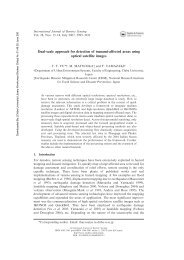 Dual-scale approach for detection of tsunami-affected areas using ...