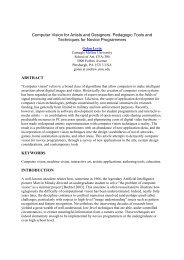 Computer Vision for Artists and Designers: Pedagogic Tools and ...