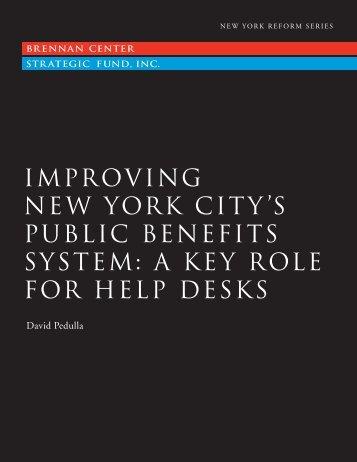 improving new york city's public benefits system - PolicyArchive