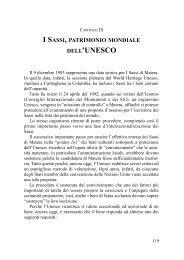 I Sassi, patrimonio mondiale dell' UNESCO