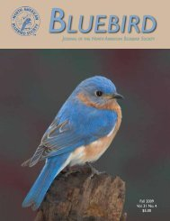 Fall 2009 Vol. 31 No. 4 $5.00 - North American Bluebird Society