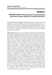MIRCEA FLONTA - Societatea Română de Filosofie Analitică