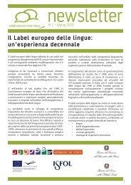 Il Label europeo delle lingue - Programma Leonardo