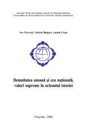 Demnitatea umană şi cea naţională, valori supreme în ... - Ion Mereuta