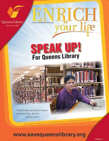 Speak Up for Queens Library - Booksite