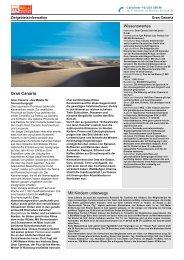 Zielgebietsinformation Gran Canaria
