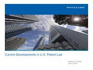 Current Developments in U.S. Patent Law - Fordham IP Conference