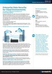 Enterprise Data Security for Cloud Environments - Workcast