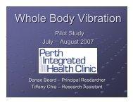 Whole Body Vibration Research