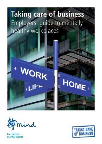 Employers' guide to mentally healthy workplaces