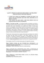 semFYC OFRECE AYUDAS DE 6.000 EUROS A LOS MEJORES ...
