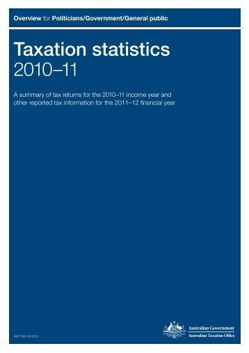 Taxation statistics 2010–11 - Australian Taxation Office