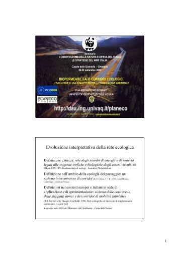 Conservazione della natura e difesa del suolo - Planeco