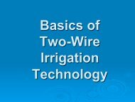 The Basics of 2-Wire Irrigation Technology