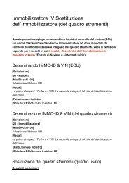Immobilizzatore IV Sostituzione dell - Auto Consulting