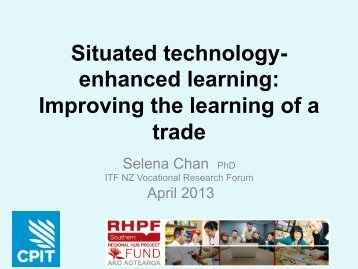Situated technology- enhanced learning: Improving the learning of ...