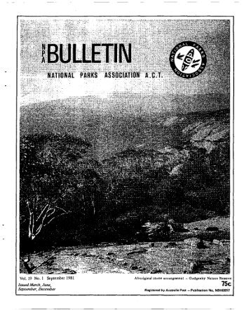 Vol 19 No 1 Sep 1981 - National Parks Association of the ACT