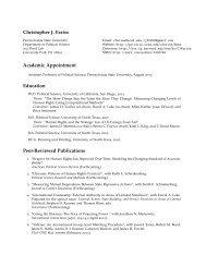 Christopher J. Fariss: Curriculum Vitae - UC San Diego
