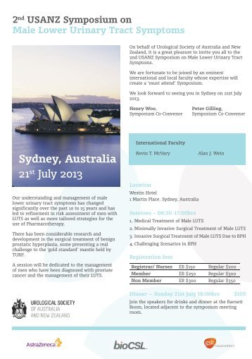 LUTS flyer - Urological Society of Australia and New Zealand