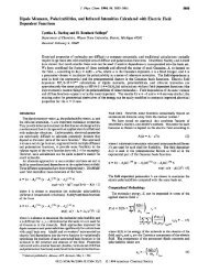 Dipole Moments, Polarizabilities, and Infrared Intensities Calculated ...