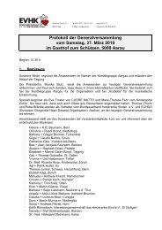 Protokoll der Generalversammlung vom Samstag, 27. März 2010 im ...