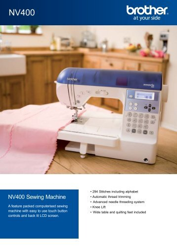 NV400 Sewing Machine - Echidna Sewing Products